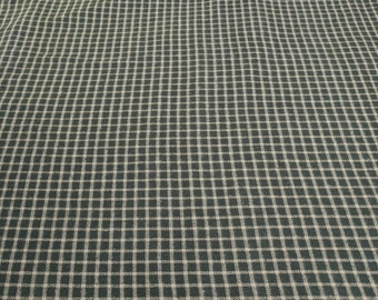 Green Plaid Cotton Flannel Fabric