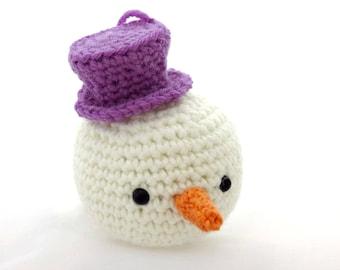 Snowman, Christmas snowman Snowman Christmas decoration, Crocheted snowman
