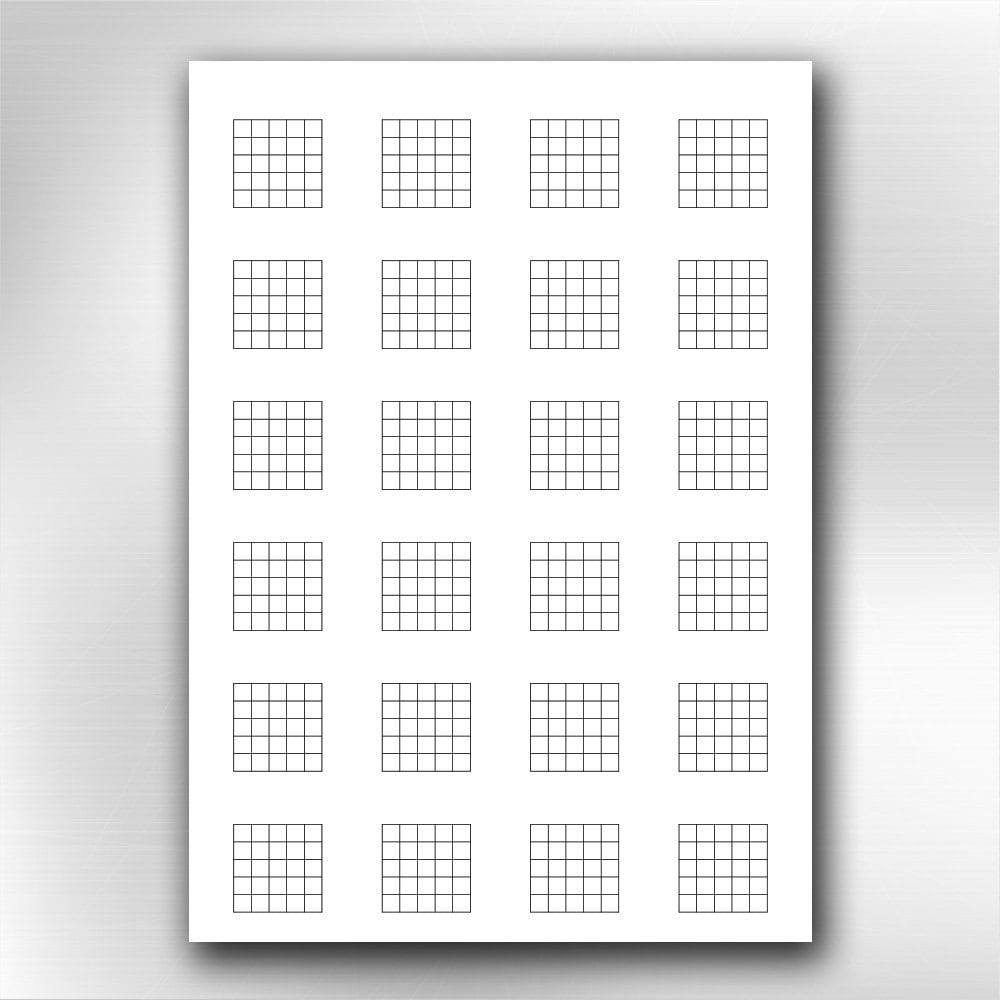 Guitar Chord Diagrams: A4 Printable Guitar Blank Chord Chart Diagrams. Songwriting