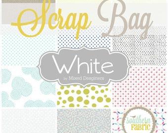 White, low Volume -  Scrap Bag Scraps-- Scrap Bag Quilt Fabric