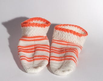 Knitted slipper socks. Indoor shoes. Hand knit wool slipper socks. Wool socks. Bed socks