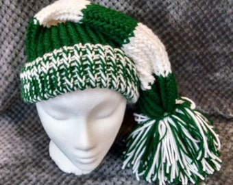 Adult or Child Stocking Hat Team Colors Green White NY Jets Marshall University