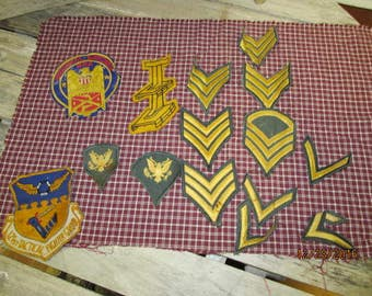 Nice lot Vintage Military Patches Green Gold Stripes 121st Tactical Fighter Group Lockbourne AFB 1962-1974 Ohio