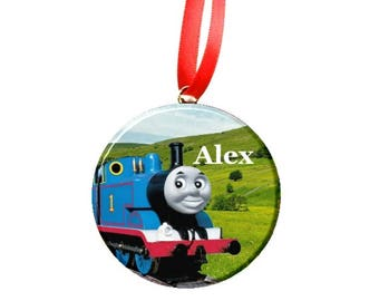 Personalized Thomas the Engine Tree Ornament