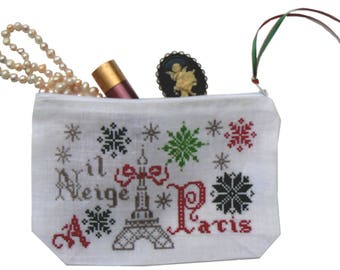 "Kit Kit ""Snowing in Paris"" to cross-stitch"