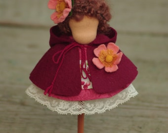 DogRose 5-6 inch doll outfit, Waldorf doll clothes, doll clothes, doll outfit, Waldorf doll outfit, doll clothes of 6 items