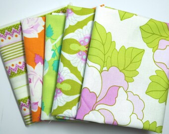 FQ Bundle, Lottie Da Collection, Heather Bailey, Quilting Cotton, 5 Fat Quarters, Stash Builder, Gift for a Quilter