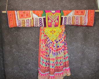 Embroidered Fancy Dress Vintage Tribal Wear