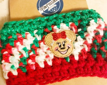 Gingerbread Mouse Crochet Coffee Cup Cozy