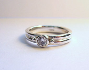 Twin Round Gemstone Ring