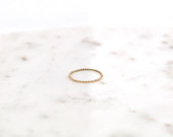 Dainty 14K Gold Filled Twist Ring-stacking ring-dainty ring