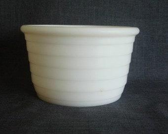 Small Vintage Milk Glass Mixing Bowl, Vintage Milk Glass, Mixing Bowl For Electric Mixer, Milk Glass Bowl