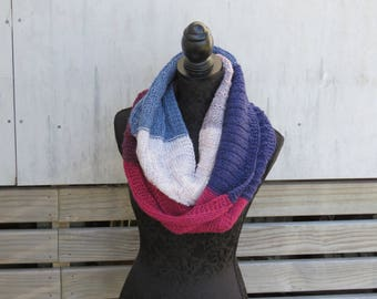 Download Now - CARON CAKE Knitting PATTERN (Only one Caron Cake used) - Download Only, Infinity Scarf, Cowl, Wrap - pdf download