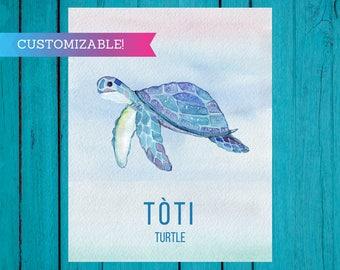 Art Print: turtle / tòti Haitian Creole