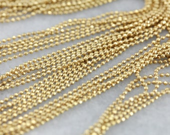 Gold Multi Strand Ball Chain Necklace N37FF8