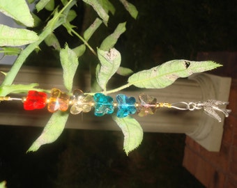 Rainbow Butterfly Sun Catchers Toggles Accessory Clip On Purse Etc