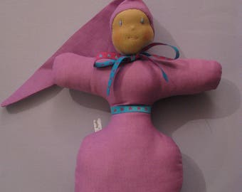 Handmade purple waldorf inspired toy