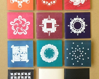 CLEARANCE Calligraphic booklets, square, 10 colours and designs