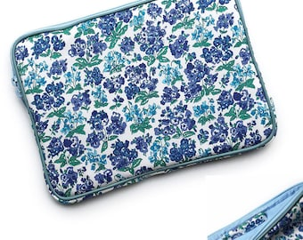 iPad Pro case, iPad case with Apple pencil holder  :  LIBERTY of london Emerline (Blue) ,iPad Pro sleeve