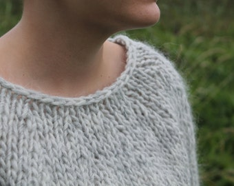 Knit sweater made of pure, Icelandic wool. MADE TO ORDER.
