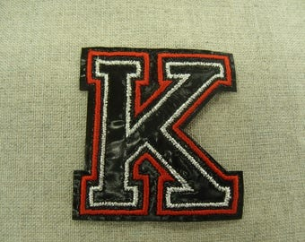 coat-fusible - red and black - pattern K