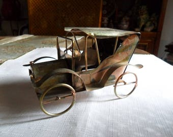 Vintage Musical Tin Can Car