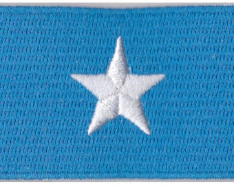 Small Somalia Flag Iron On Patch 2.5 x 1.5 inch Free Shipping