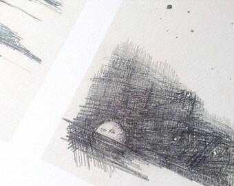 Moon rising and ocean ripples art print art poster