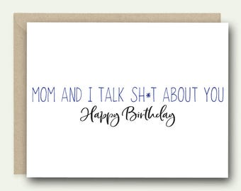 Funny Birthday Card | Birthday Card | Birthday Card for Sister | Birthday Card for Brother | Happy Birthday Card | Funny Cards
