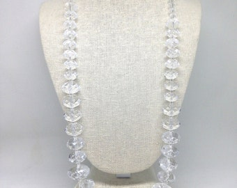 Joan Rivers Classics Collection Faceted Clear Crystal Beaded Necklace