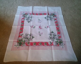 Vintage Dish Towel - Red and White Dish Towel - Vintage StarTex Kitchen Towel - Linen Kitchen Towel - Kitchen Towel