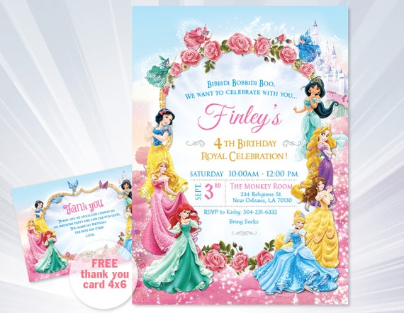 princess invitations