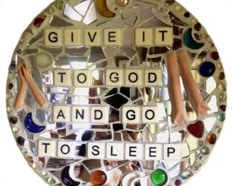 RECOVERY SOBRIETY ART. Stained Glass Mosaic. Inspirational Quotes Affirmations. Well-Being. Self-Love. Self-Worth.