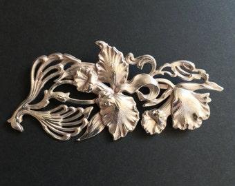 Art Nouveau Flower Pin