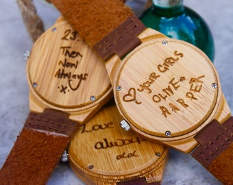 Personalised Gift - Personalized Gift - 5th Anniversary Gift - Wooden Anniversary Gift - Unique Gift - Wooden Watch - Gift For Him