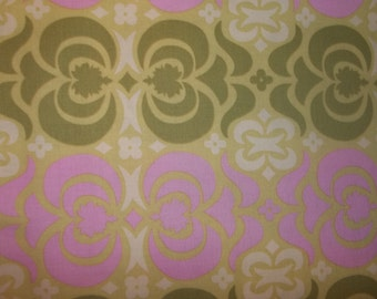 Garden Maze By Amy Butler Love collection called Midwest Modern Collection on Light pink and light green 1 yard cotton quilt fabric
