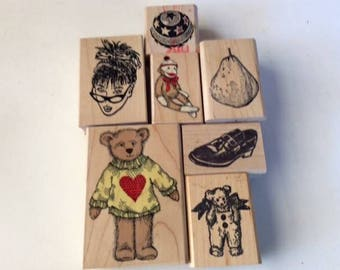 Mounted Rubberstamp Collection of 20 Images