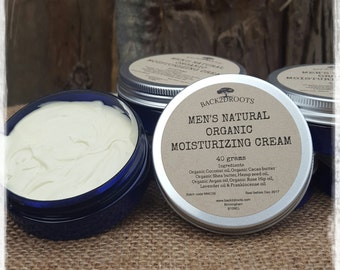Men's Natural Organic Moisturizing Cream  40ml