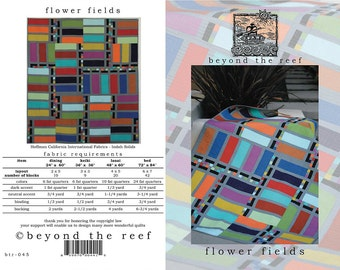 Flower Fields from Beyond the Reef Quilt Pattern - Modern Quilts