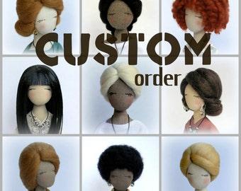 Personalized Doll Custom doll Yoga Rag doll Cloth doll Gift for her