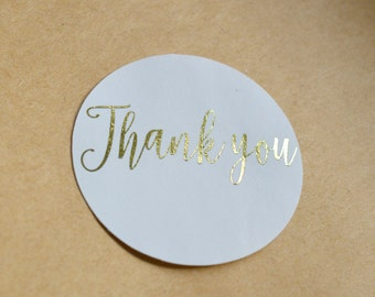 Custom Stickers Product Labels Simple Thank You Wedding Favors Stickers Gift Wrapping Envelope Sticker Packaging Foil Stickers