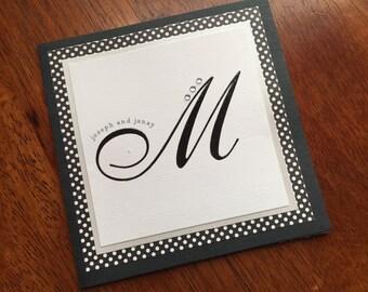 Square Wedding Invitation/Glamorous Wedding Invitation/Square Wedding Invitation