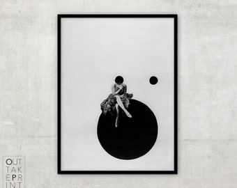 Black and White Photography Prints, László Moholy-Nagy, vintage Art photography, Olly and Dolly Sisters