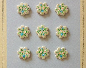 floral Clay baked Buttons
