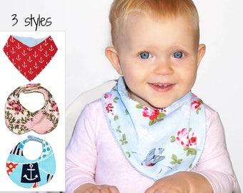 Bandana Bib Pattern, Baby Bib Pattern, Bib Pattern, PDF sewing pattern, baby sewing pattern, Bib Patterns, Baby Bib Patterns, DROOL BIBS