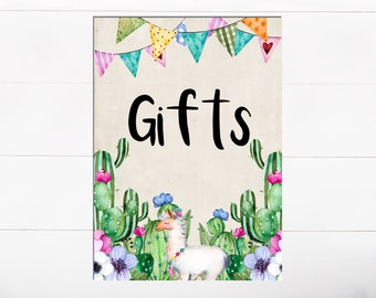 Cards and Gifts Floral Llama Sign Baby Shower Colorful Bunting Sign Floral Cactus Baby Shower Birthday Party Baby Shower FLoral llama