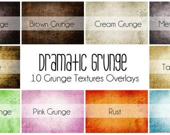 Dramatic Grunge - 10 Grunge Texture Overlays for Photographs