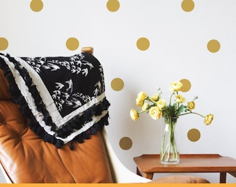 Gold Polka Dot | Patterns Shapes Kids Nursery Decor | Removable Wall Decal Sticker | MS122VC-Gold