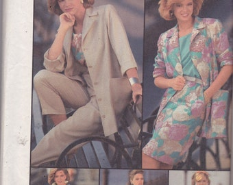Simplicity 7312 Vintage  Pattern Womens Top, Skirt, Dress, Pants and Unlined Jacket Size 14 UNCUT