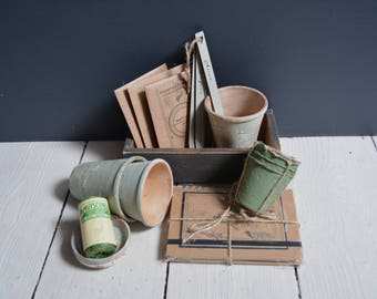 Shades of Green Terracotta Planting Collection // Gardener Gift // Gifts for Gardeners // Gifts for Her // Gifts for Him // Gifts for Dad //